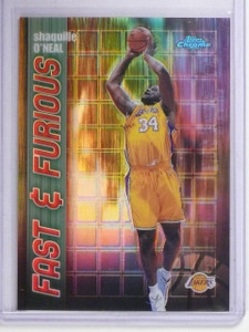 2001-02 Topps Chrome Fast & Furious Refractor Shaquille O'Neal #FF8 *64577