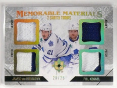 14-15 Ultimate James Van Riemsdyk Kessel quad patch jersey #D20/25 *49374