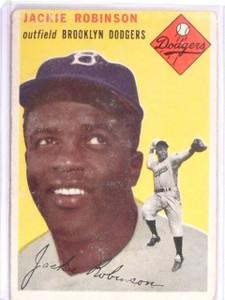 1954 Topps jackie Robinson #10 VG *56386