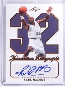 2012 Leaf Numeration Karl Malone autograph auto #D32/32 #NA-KM1 *57360