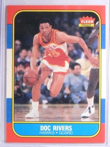 1986-87 Fleer Doc Rivers Rookie RC #91 *65997
