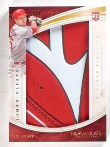 2016 Panini Immaculate Jumbo Cleats Stephen Piscotty logo cleat rc #D3/7 *57345