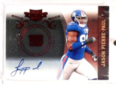 2010 Plates and Patches Jason Pierre-Paul Autograph Rookie #D073/449 #145 *52803