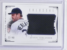 2016 National Treasures Colossal Justin Verlander Jersey #D12/49 #CJV *64760