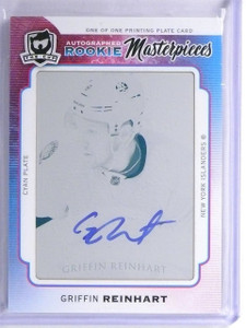 2014-15 Upper Deck The Cup Griffin Reinhart autograph auto rc plate 1/1 *55928