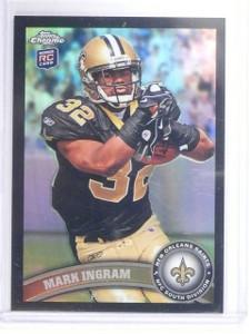 2011 Topps Chrome Black Refractor Mark Ingram Rookie RC #D265/299 #50 *64683