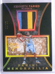 2015-16 Panini Black Gold Kenneth Faried Patch #D10/25 #31 *65777