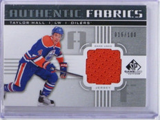11-12 Sp Game Used Fabrics Taylor Hall jersey #D16/100 #AF-TH *35790