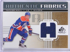 11-12 Sp Game Used Fabrics Taylor Hall jersey #AF-TH *35746