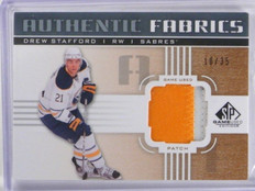 11-12 Sp Game Used Fabrics Drew Stafford 2 color patch #D10/35 *35717