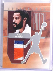 2008 Sportkings Patch Silver Walt Frazier 3 color Patch #P25 sp/30 *65798
