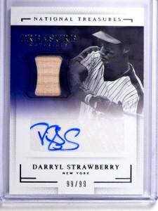2016 National Treasures Darryl Strawberry Bat Autograph #D99/99 #TSMDS *64310