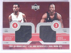 2003-04 Upper Deck Honor Roll Butler Dwyane Wade Rookie Jersey #CBDW *65973