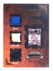 2009 Press Pass Prominent Pieces Michael Waltrip Relic #D045/150 #PPMW *64406