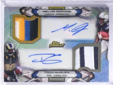 2015 Topps Finest Melvin Gordon & Todd Gurley patch autograph rc #D10/10 *57725