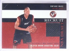 2003-04 Topps Pristine NBA Draft Recruit Dwyane Wade Rookie Jersey #PRDWY *65971
