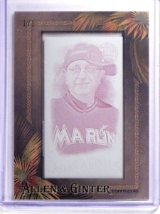 2016 Topps Allen & Ginter Mini Printing Plate Laurence Leavy #D1/1 #45 *64148