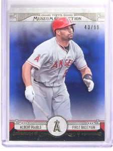 2015 Topps Museum Collection Albert Pujols Blue #D43/99 #16 *51295