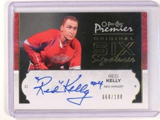 07-08 OPC O-Pee-Chee Premier Original Six Red Kelly autograph auto #D60/100 *462