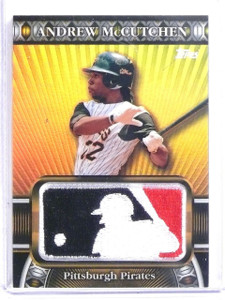2010 Topps Manufactured MLB Logoman Patch Andrew McCutchen #D34/50 #LM24 *60273