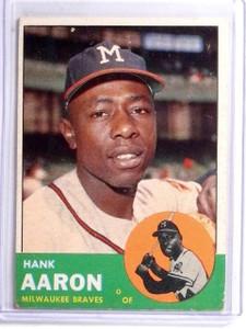 1963 Topps Hank Aaron #390 VG *59004