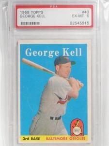 1958 Topps George Kell #40 PSA 6 EX-MT *58963