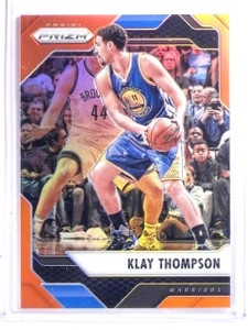 2016-17 Panini Prizm Prizms Orange Refractor Klay Thompson #D31/49 #283 *66636