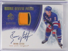 07-08 Sp Authentic Rookie Review Brian Leetch auto autograph patch #D33/100 *352