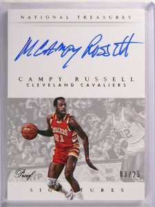 201415 National Treasures Campy Russell Autograph Auto Proof #D03/25 #SCY *53693