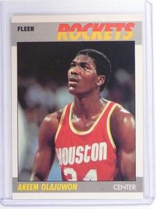 1987-88 Fleer Hakeem Olajuwon #80 Rockets *49803