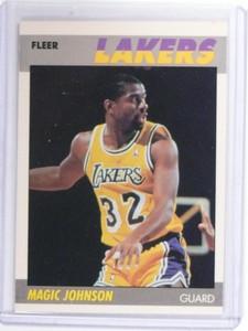 1987-88 Fleer Magic Johnson #56 Lakers *49802