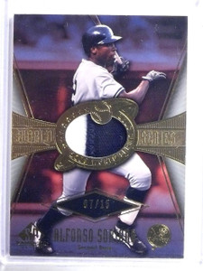 2004 UD SP Game Used World Series Alfonso Soriano Patch #D07/15 #WSSAS1 *59080