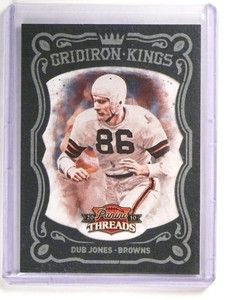 2010 Panini Threads Gridiron Kings Framed Black Dub Jones #D04/10 #45 *51916