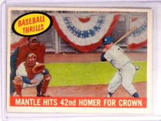 1959 Topps Mantle Hits 42nd HR for Crown Mickey Mantle #461 VG-EX *66754