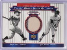 2002 Upper Deck World Series Heroes Matchups Roger Maris Jersey #MU62 *58862