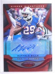 DELETE 12090 2016 Certified Signatures Mirror Red Karlos Williams Autograph #D25/60  *60881