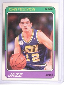 1988-89 Fleer John Stockton Rookie RC #115  *61443
