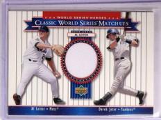 2002 Upper Deck World Series Heroes Classic Match-Ups Jeter Leiter Jersey *67237