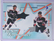 2003-04 BAP Memorabilia Joe Sakic Brian Leetch All-Star Teammates Jersey sp/30 *