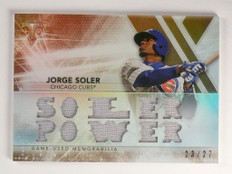 2015 Topps Triple Threads Jorge Soler Sepia Power Jersey #D23/27 #TTR-JS2 *51564