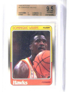 88-89 Fleer Dominique Wilkins #5 BGS 9.5 GEM MINT *40457