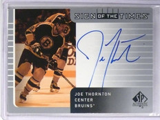 2002-03 SP Authentic Joe Thornton Sign Of The Times Autograph #JT *57102