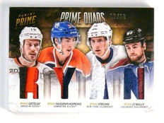 13-14 Panini Prime Quads Getzlaf Nugent-Hopkins Strome O'reilly Patch #9/10 *447