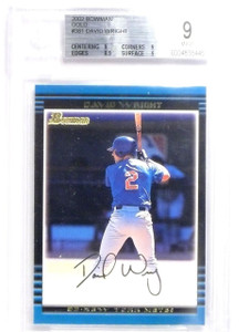 2002 Bowman Gold David Wright #381 rc rookie #381 BGS 9 MINT *63861
