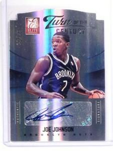 2012-13 Elite Joe Johnson Turn Century Autograph Auto #D22/25 #50 *52722