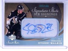 07-08 UD Sweet Shot Ice Signings Evgeni Malkin autograph auto #D21/100  *47802