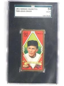 1911 T205 Hassan Cigarettes Louis Criger SGC 50 VG/EX 4  *61550