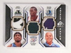 09-10 Sp Game Used Corey Brewer Mason George triple patch #D07/60 *52326