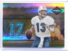 2005 Leaf Limited Legends Seasons Dan Marino jersey #D14/17 #LL-3 *39283