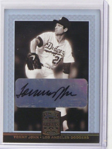 2005 Donruss Greats Signatures Tommy John auto autograph #83 *37365